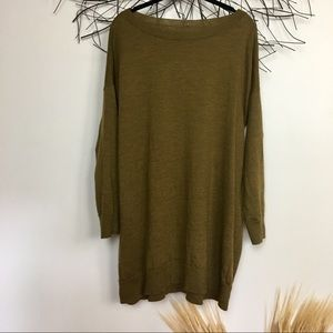 100 merino wool EILEEN FISHER green sweater
